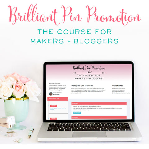 Brilliant Pin Promotion ~ The Course for Makers and Bloggers