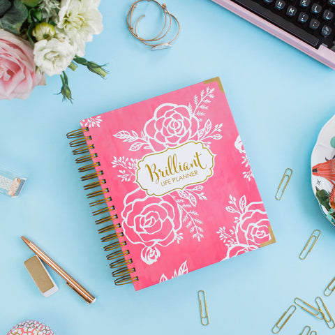 Brilliant Life Planner - Pink and White Floral