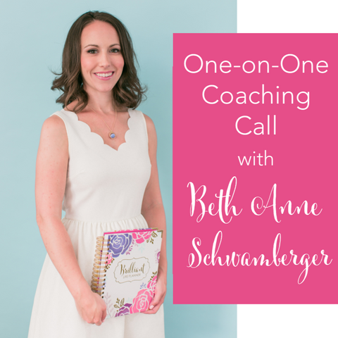 One-on-One Business Coaching Call with Beth Anne Schwamberger