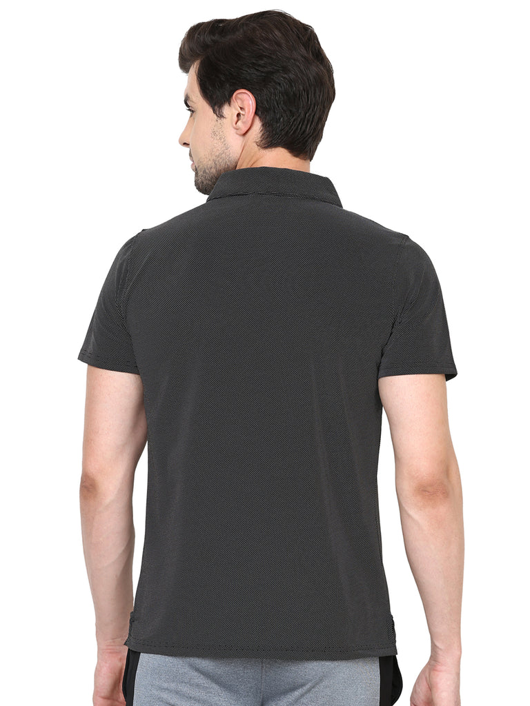 Dotted Black Polo T-Shirt
