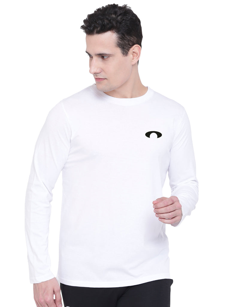 Arc White Full Sleeves Tee