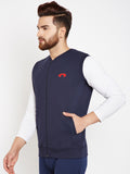 Arc Navy Sleeveless Jacket