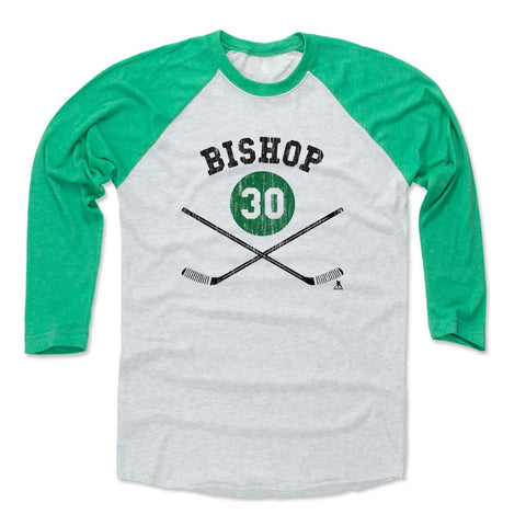 Mens Baseball T-Shirt Green / Ash