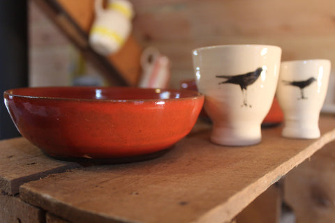 Small Red Dipping Bowl