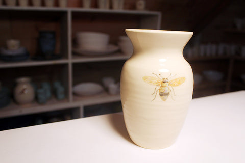 Flower Vase with Bee (small)