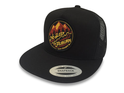 No Sleep Til Auburn WSER WS100 Western States boom RUNNING Trucker Hat Black
