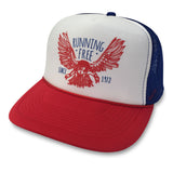Running Free Eagle Trucker Hat boom Running Red/White/Blue