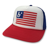 boom RUNNING Flag Trucker Hat Red/White/Blue
