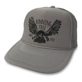 Running Free Eagle Trucker Hat boom Running Grey
