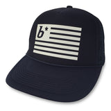 boom RUNNING Flag Trucker Hat Navy