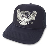 Running Free Eagle Trucker Hat boom Running Navy