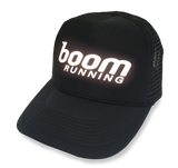 boom RUNNING Reflective Trucker Hat Black