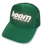 boom RUNNING Reflective Trucker Hat Kelly Green