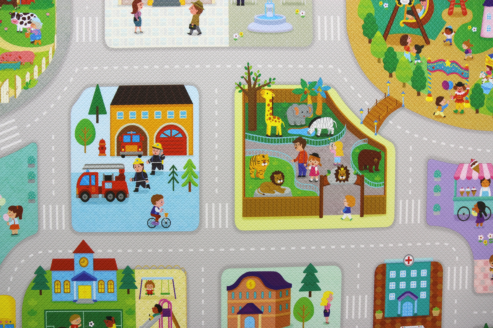 Dwinguler Play mat - Big Town Close up