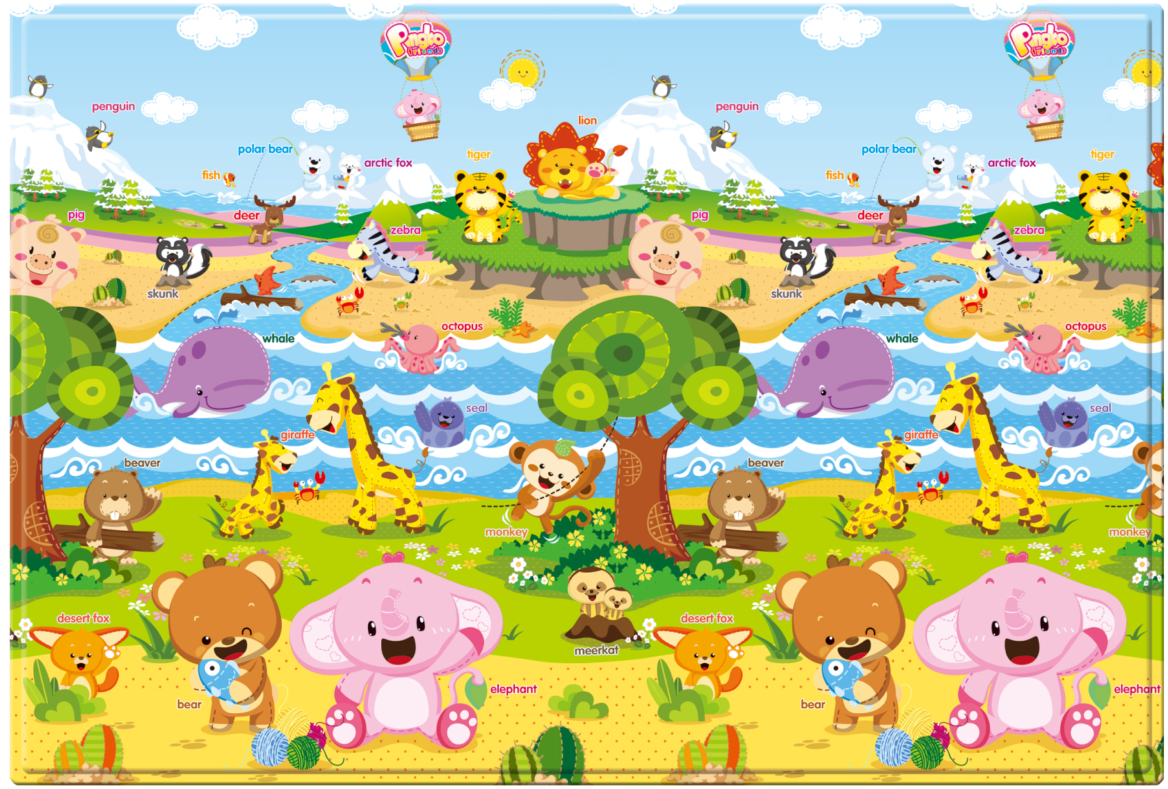 Baby Care Pingko & Friends Playmat  Cross section