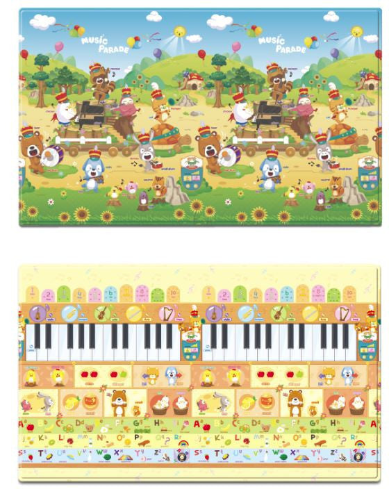 Reversible Dwinguler Playmat with Alphabet - Music Parade baby mat