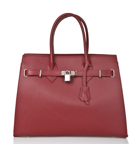 Bridgewater Satchel - Merlot Red - GRACEBURY