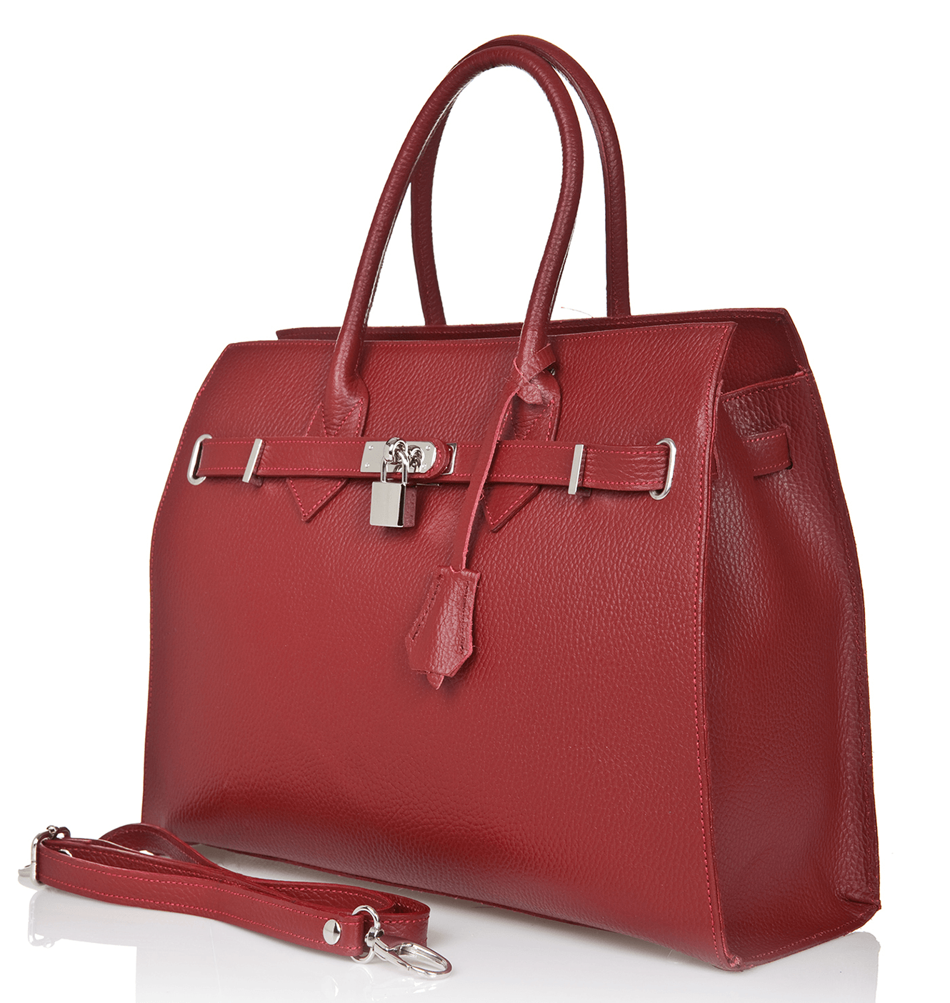 Bridgewater Satchel - Merlot Red