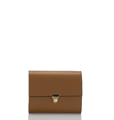 The Classic Clutch - Tan Cognac - GRACEBURY