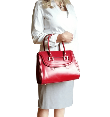 Sherman Satchel - Cherry Red - GRACEBURY