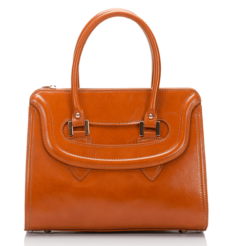 Sherman Satchel - Tan Cognac