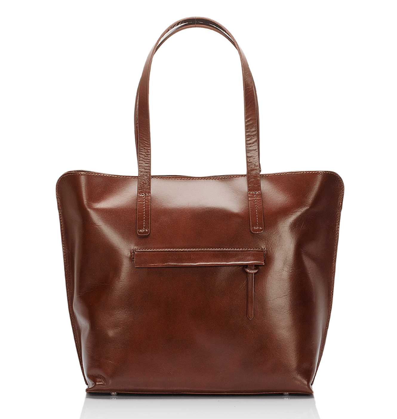 Market Tote - Saddle Brown