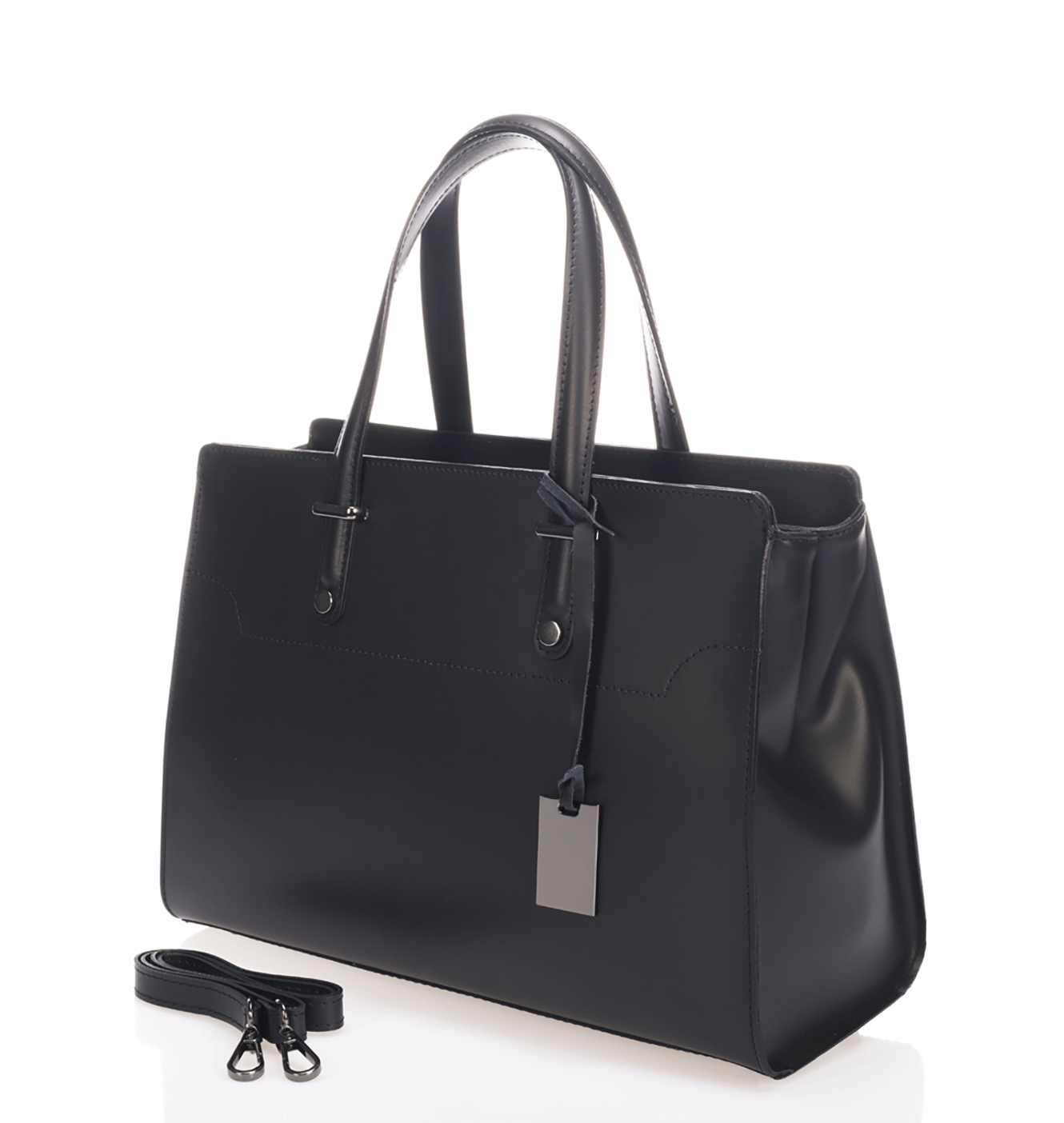 West Street Satchel - Midnight Black - GRACEBURY