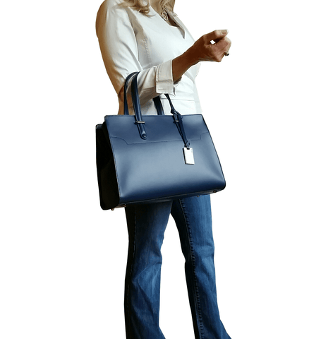 West Street Satchel - Oxford Blue