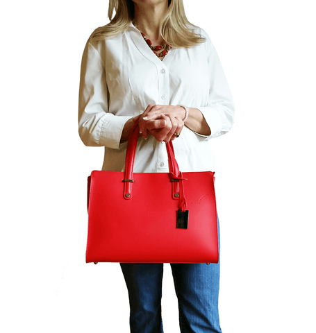 West Street Satchel - Persimmon Red