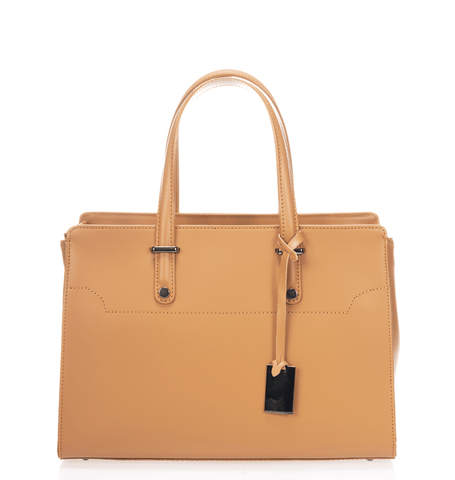 West Street Satchel - Tan Cognac