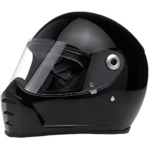 Biltwell Lane Splitter Full Face Helmet - Gloss Black