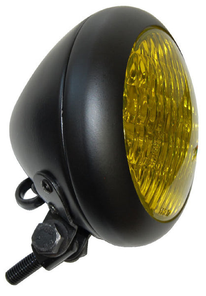 Throttle Addiction Bezel Headlight - Black With Yellow Lens