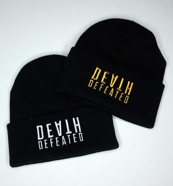 Death Defeated Stacked Beanie