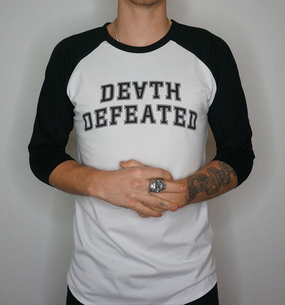 Death Defeated Raglan T-Shirt