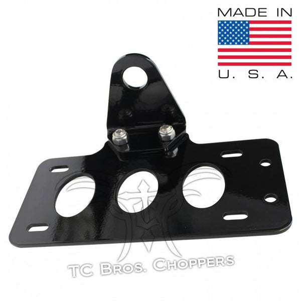 TC Bros Side Mount License Plate Bracket No Light