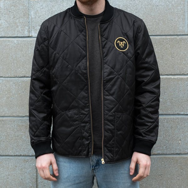Treadwell Unisex Quilted Jacket - Black