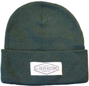 e15cee5e IFK Moto Life Beanie - Green - Ill-Fated Kustoms