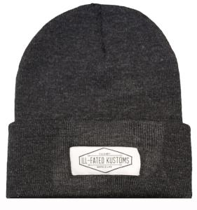 99fbc528 IFK Moto Life Beanie - Charcoal - Ill-Fated Kustoms