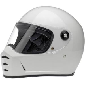 Biltwell Lane Splitter Full Face Helmet - Gloss White