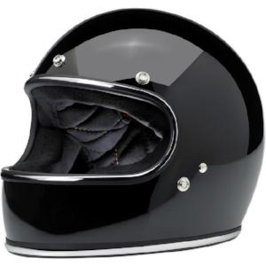 Biltwell Gringo Helmet - Gloss Black w/ Chrome Trim