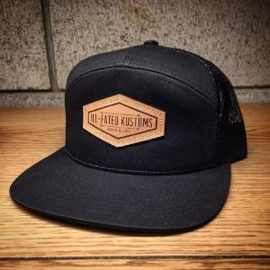 f387e6c1 IFK Hat - 7 Panel Mesh Black - Ill-Fated Kustoms