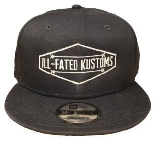 d23f5e23 IFK Hat - Snap Back Black - Ill-Fated Kustoms