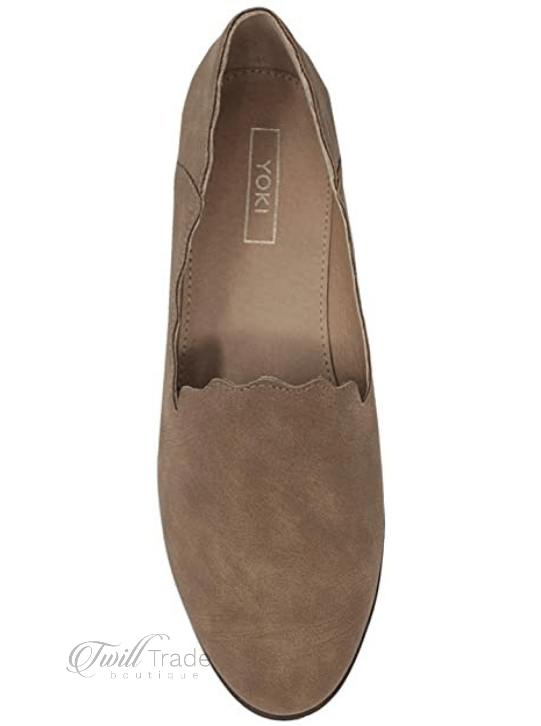 Camel Scalloped Loafers - twill tradE
