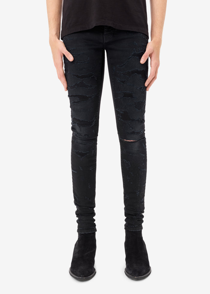 Exclusive Bruise Skinny Jean - Antique Black