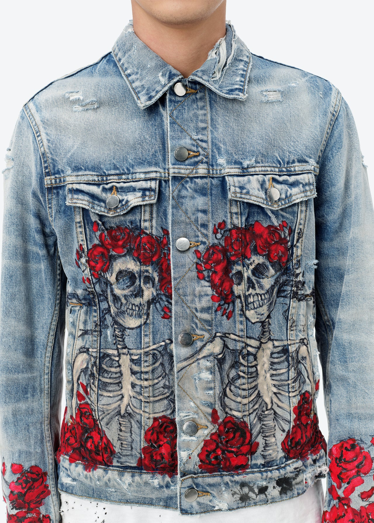 GRATEFUL DEAD TRUCKER JACKET - CLAY INDIGO