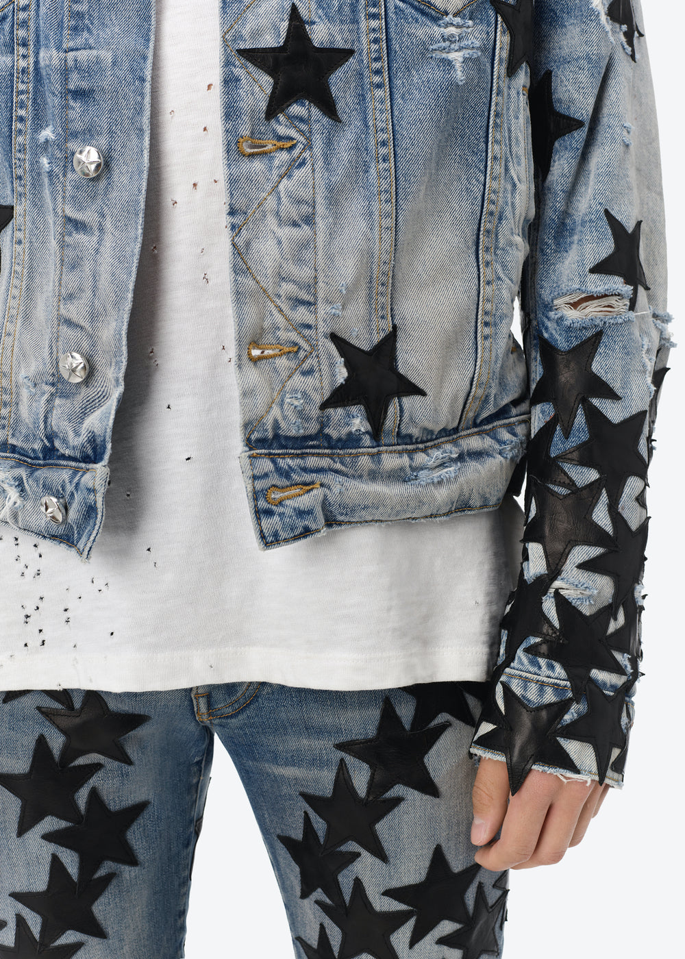 CHEMIST LEATHER STAR TRUCKER - CLAY INDIGO / BLACK