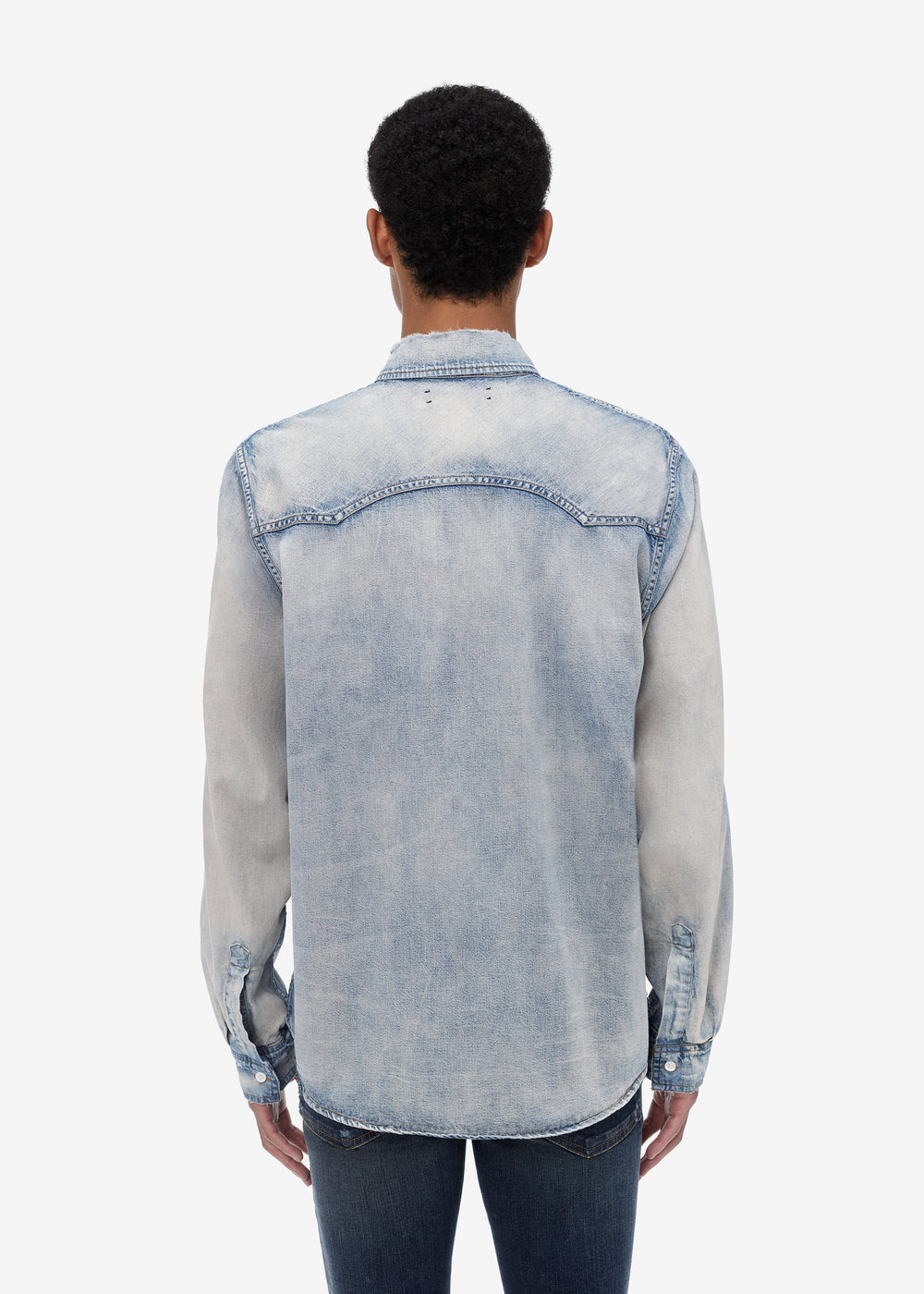 EXCLUSIVE BASIC DENIM SHIRT - CLAY INDIGO