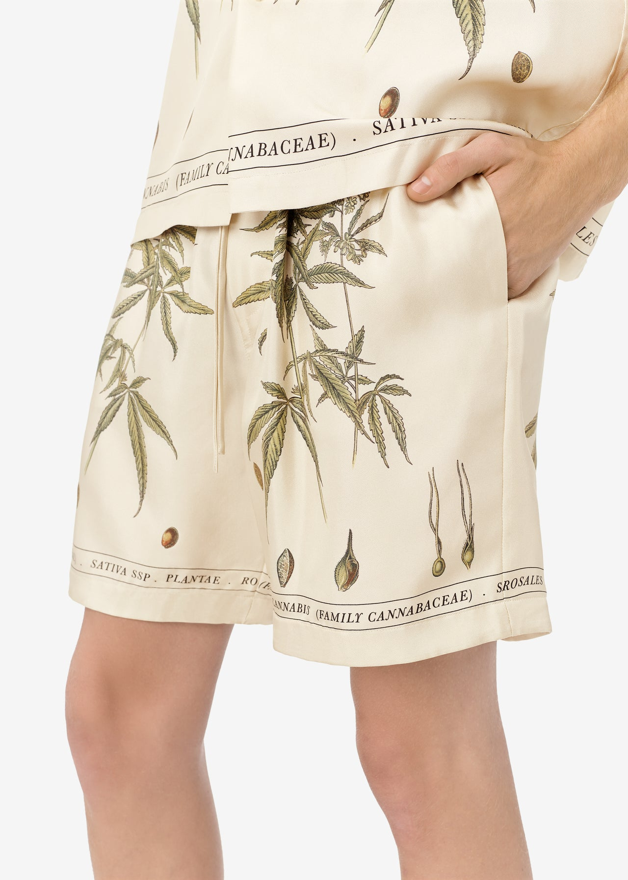 BOTANICAL LEAVES SHORTS - Natural