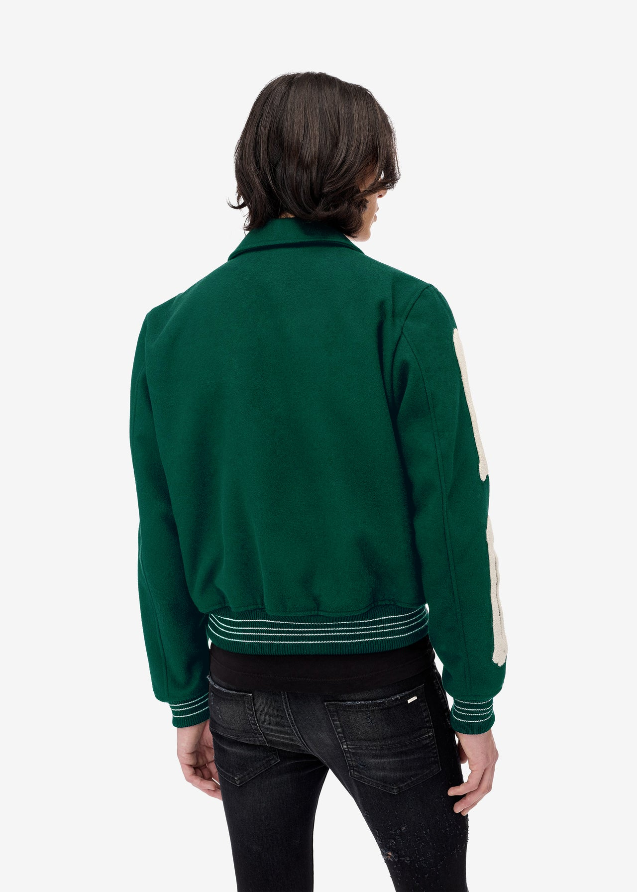 BONES VARSITY JACKET - TENNIS GREEN