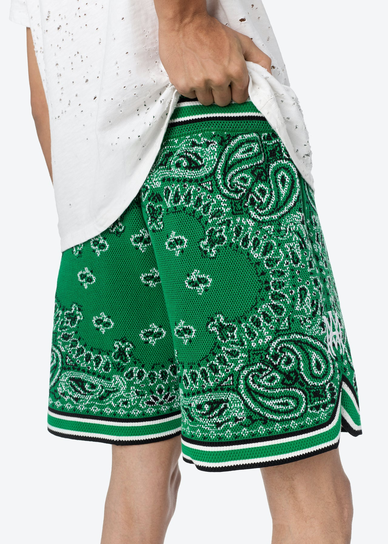 BANDANA B-BALL SHORTS - TENNIS GREEN
